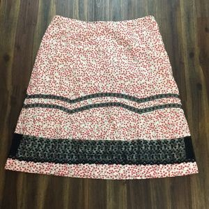 Anthropologie Odille red berry skirt